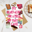 Personalised 'Cake Lovers' Valentines Card