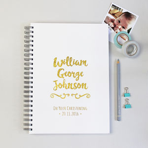 Personalised Baby Christening Gift Book - christening gifts