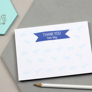 Personalised Dinosaur Thank You Notepad - stationery