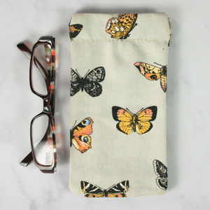 Butterfly Print Glasses Case - glasses cases