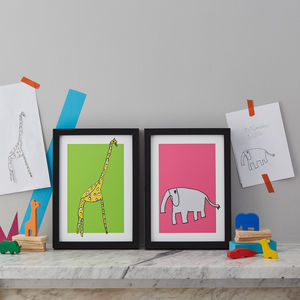 Draw Your Own Pet Or Animal Personalised Print - baby's room