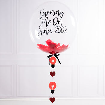 Personalised Anniversary You Turn Me On Bubble Balloon
