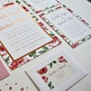 English Rose Floral Wedding Invite