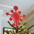 Personalised Starburst Christmas Tree Topper