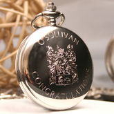 Personalised Family Crest Pocket Watch - men's jewellery