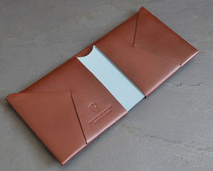 Vintage Style Leather Wallet Coloured Centre - 60th birthday gifts