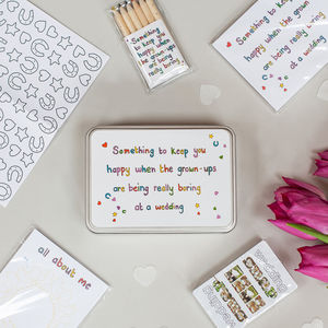 Wedding Table Activity Pack For Kids - wedding favours