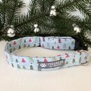 Blue Christmas Tree Dog Collar