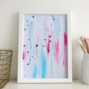 Northern Lights Abstract Watercolour Print - modern & abstract