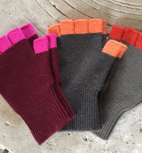 Contrast Finger Handwarmers - hats, scarves & gloves