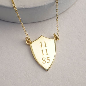 Date Shield Necklace