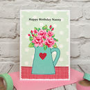 'Jug of Roses' Personalised Birthday Card for women by Jenny Arnott Cards and Gifts