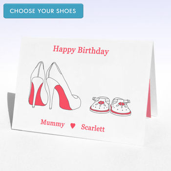 Personalised Shoes Birthday Card