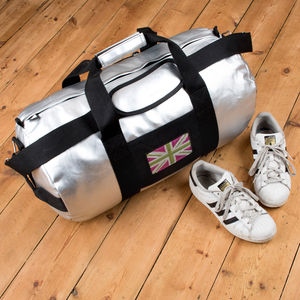 Customised Silver Holdall For Girls - holdalls & weekend bags