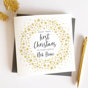 First Christmas In Your New Home Star Card