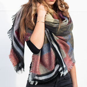 Reversible Apache Blanket Scarf - hats, scarves & gloves