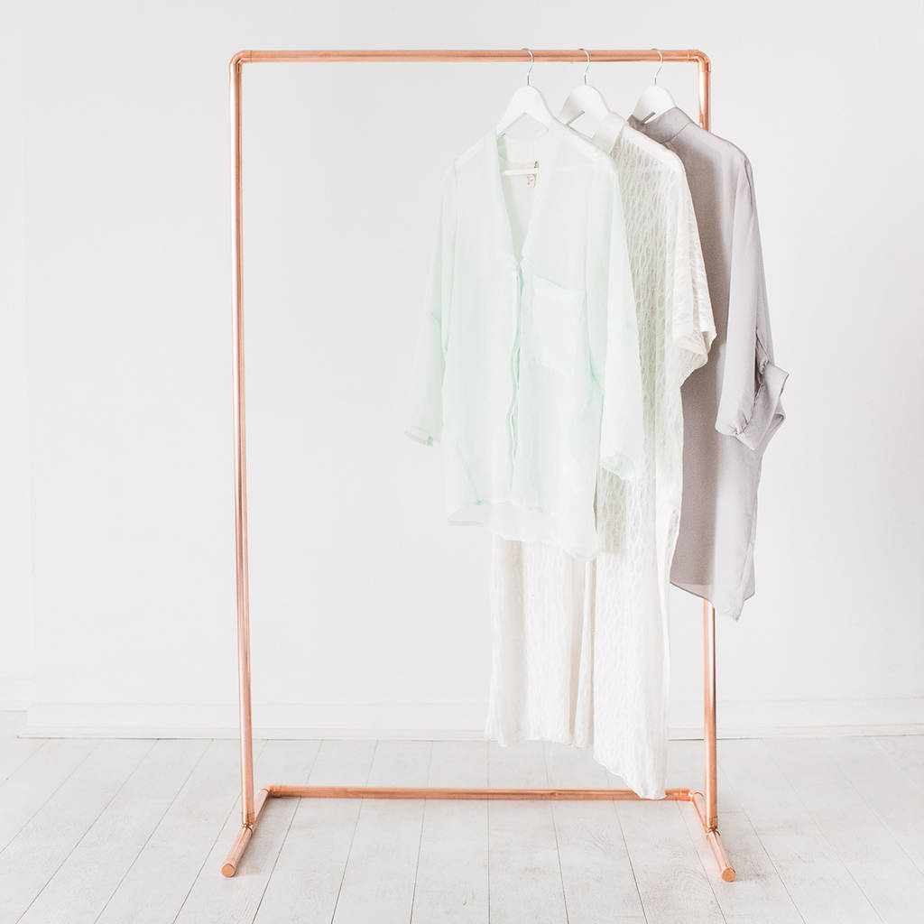 Minimal Copper Pipe Clothing Rail by Little Deer