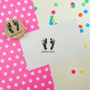 Baby Hand Or Footprint Personalised Rubber Stamp - toys & games