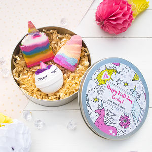 Personalised Unicorn Themed Pamper Gift