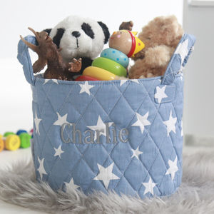 Mini Denim Blue Star Storage Bag - baby's room
