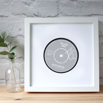 Personalised Anniversary Record Label Print