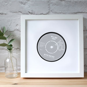 Personalised Anniversary Record Label Print - view all anniversary gifts
