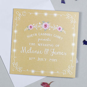 Rose Garland Wedding Invitation