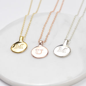 Personalised Circle Initial Necklace