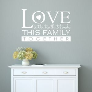Love And Family Wall Sticker - wall stickers