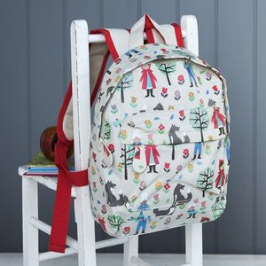 Red Ridinghood Printed Mini Backpack - children's accessories