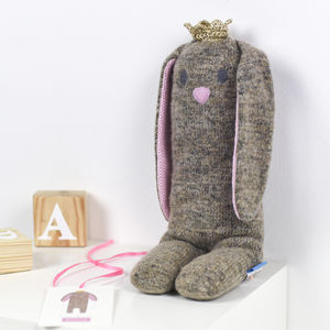 Personalised Easter Bunny Knitted Toy - new modern toys