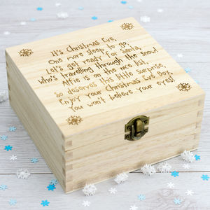 Personalised Poem Christmas Eve Box - christmas home accessories