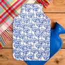 Hot Water Bottle Cornflower Print