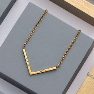 Personalised Chevron Necklace - geometric shapes
