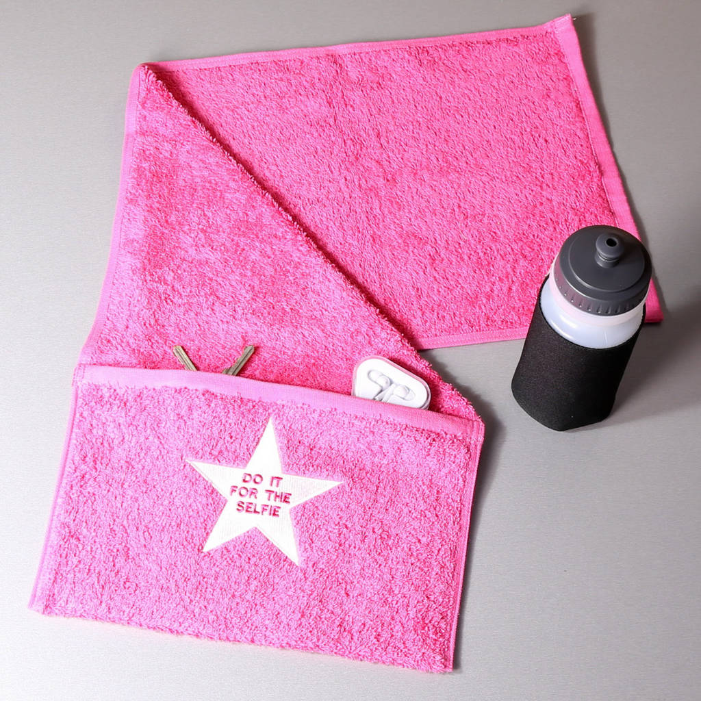 Towel In Gym: Do It For The Selfie Gym Towel With Pocket By Duncan