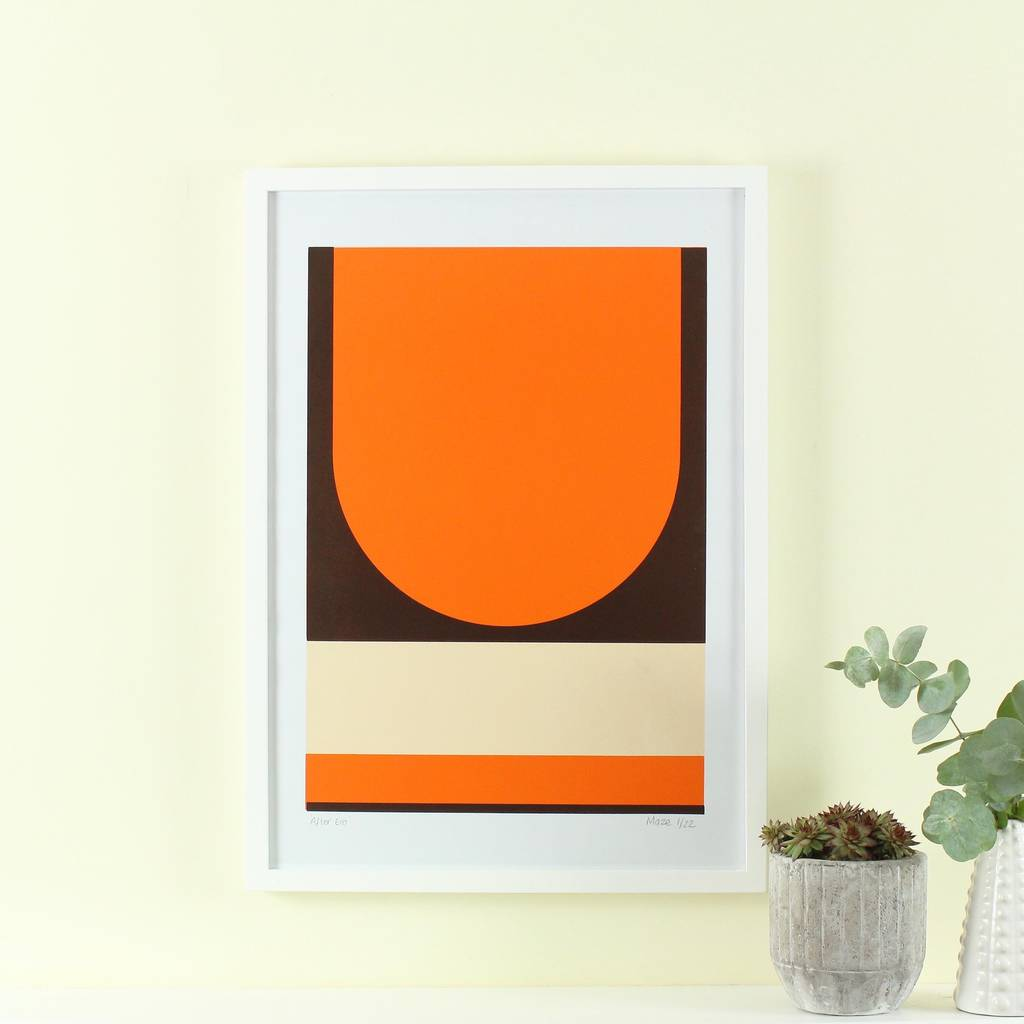 39 after era 39 screen print mid century modern art by maze for Mid modern period