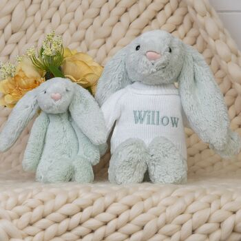 Personalised Seaspray Bashful Bunny Soft Toy