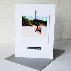 Personalised Photo Stamped Message Card - cards & wrap