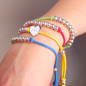 Personalised Charm Suede Friendship Bracelet
