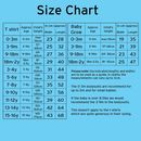 Tshirt and babygrow Size Chart