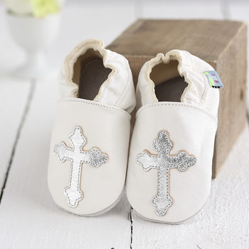 Christening Soft Leather Baby Shoes