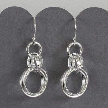 Sterling Silver Russian Rings Earrings