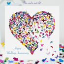 Butterfly Wedding Anniversary Card, Kaleidoscope