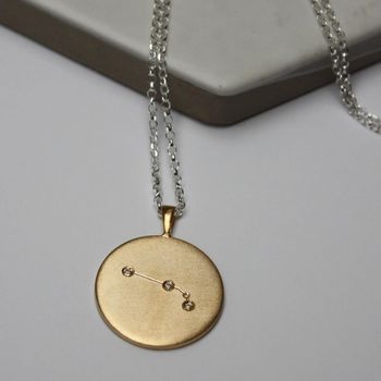 Constellation Necklace With Diamonds Aries Star Sign