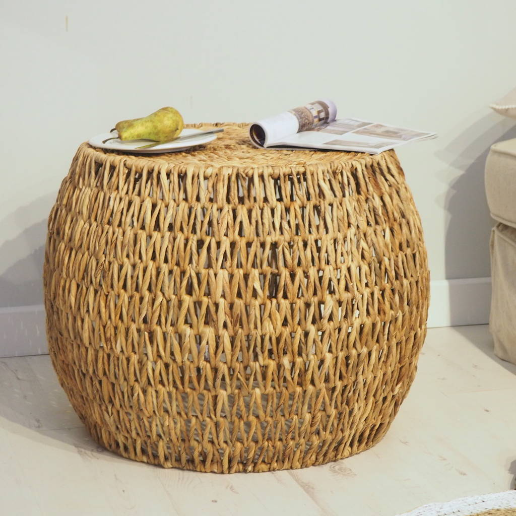 Wicker Coffee Table Round By Za Za Homes