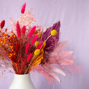Bright And Colourful Dried Flower Bouquet
