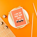 Love Sushi Anniversary Card