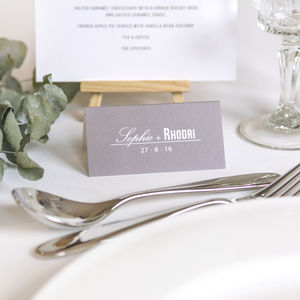 Traditional Style Wedding Place Names / Stone Grey