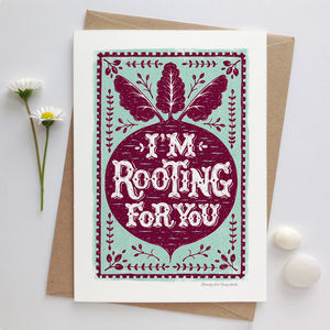 Beetroot Good Luck And Encouragement Card