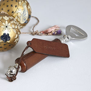Personalised Leather Bottle Opener - utensils